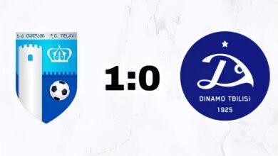 "Photo of საფეხბურთო კლუბმა- ""თელავი"" თბილისის ""დინამო"" – 1 : 0 დაამარცხა"